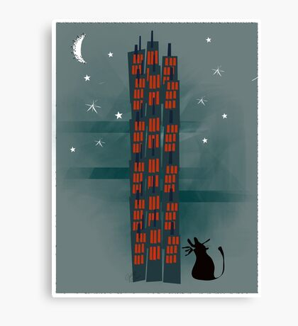 Urban Cat Canvas Print