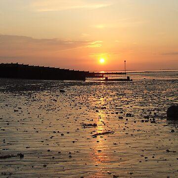 Whitstable sunset by barnsleysteve