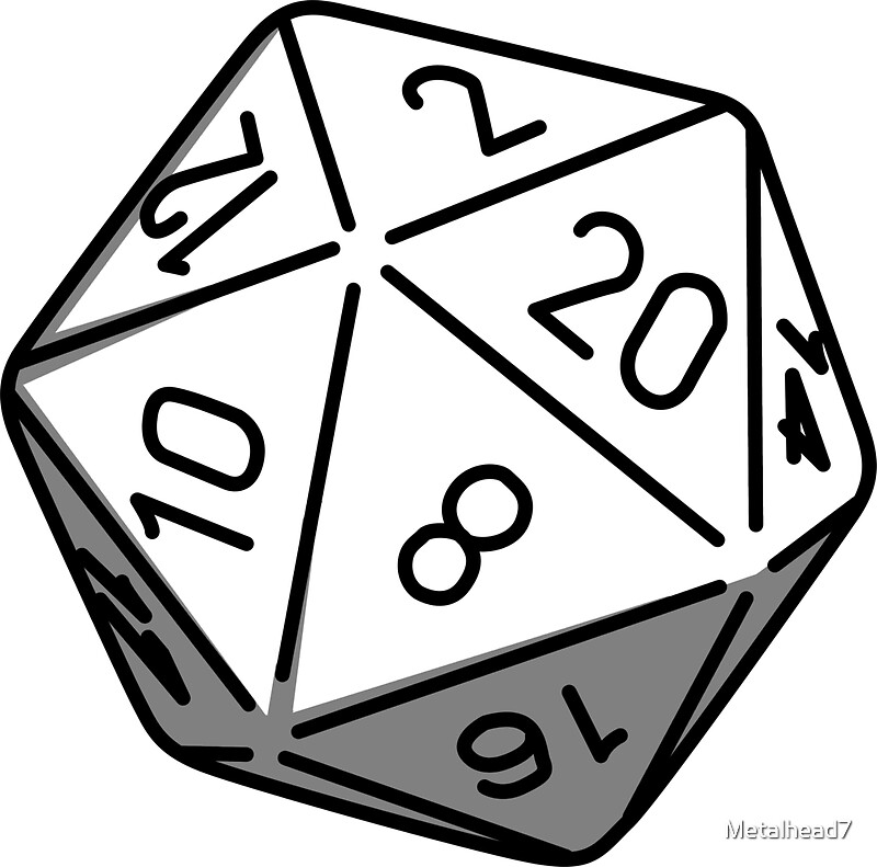 Simple D20 Stickers By James Hall Redbubble