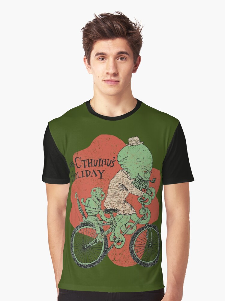 Mr. Cthulhu's Holiday Graphic T-Shirt Front