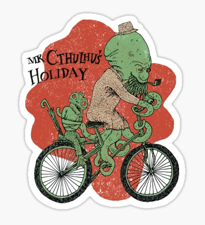 Mr. Cthulhu's Holiday Sticker
