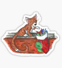 Catnip Christmas Sticker