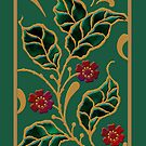 'Jeweled Leaves', Titled Greeting Card or Small Print, by luvapples downunder/ Norval Arbogast