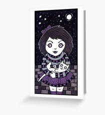 Midnight Meows Greeting Card