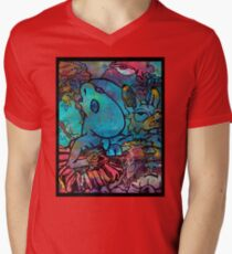 Alien in a Red Dress Mens V-Neck T-Shirt
