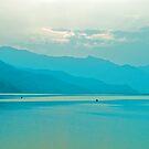 Blue Pokhara Sunset by Valerie Rosen