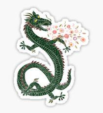 Dragon, Flower Breathing Sticker