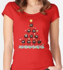 Merry Dusty Christmas! Women's Fitted Scoop T-Shirt