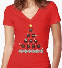 Merry Dusty Christmas! Women's Fitted V-Neck T-Shirt