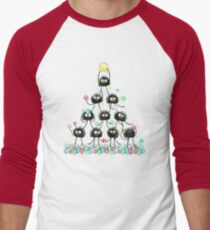 Merry Dusty Christmas! Men's Baseball ¾ T-Shirt