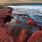Red Rock - Red Bluff Beach - Kalbarri by John Pitman