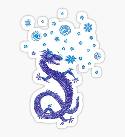 Northern Lights Dragon Sticker