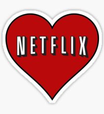 Netflix heart Sticker