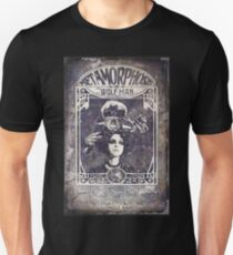 Metamorphosis by The Wolf Man: A Full Service Hair Salon (Old Metal Sign) T-Shirt