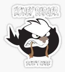Angry Honey Badger Sticker