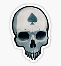 Vampire Skull, Ace of Spades Sticker