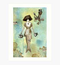 A Mermaid's Tea Art Print