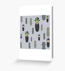 Magritte pattern Greeting Card