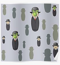 Magritte pattern Poster