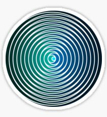 Spiky Circle Pattern - Blue and Green Sticker