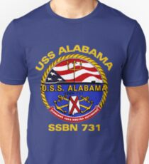USS Alabama (SSBN-731) Crest for Dark Colors T-Shirt
