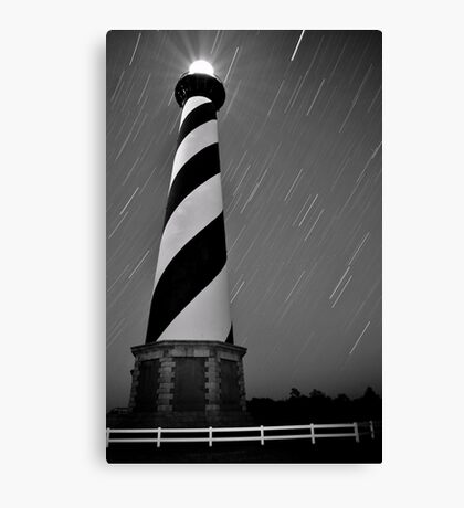Hatteras Lighthouse (b&w) Canvas Print