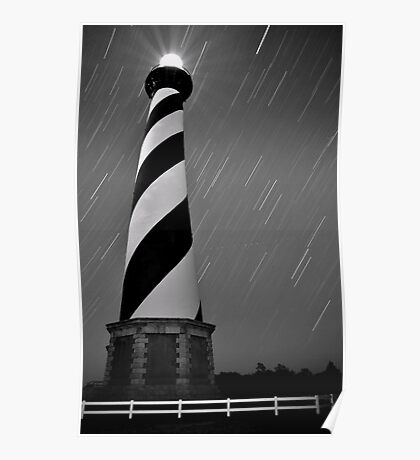 Hatteras Lighthouse (b&w) Poster