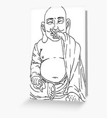 The Tokin' Buddha Greeting Card
