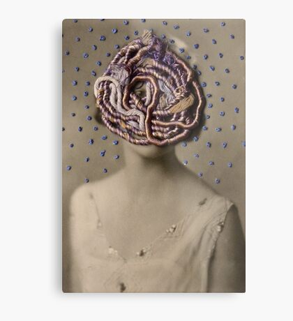 Water Woman, embroidered photo Metal Print