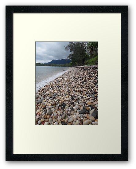 Pebbles on the beach by kelliejane