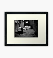Poor sleeper Framed Print