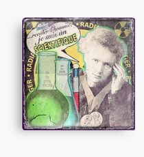 Popular Science: M. Curie (French) distressed Metal Print