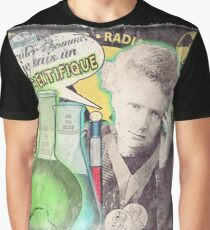 Popular Science: M. Curie (French) distressed Graphic T-Shirt
