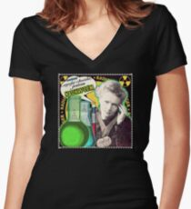 Popular Science: M. Curie (Polish) Women's Fitted V-Neck T-Shirt