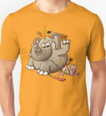 Spain's King Breaks Hip While Elephant Hunting Slim Fit T-Shirt