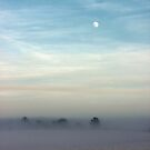 Snow Moon and Mist by John Dunbar