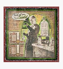 Popular Science: Marie Curie (distressed) Photographic Print