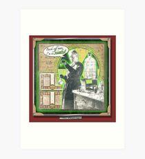 Popular Science: Marie Curie Art Print