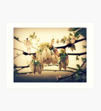 Fairy Blessings and Blueberry Blossoms Art Print