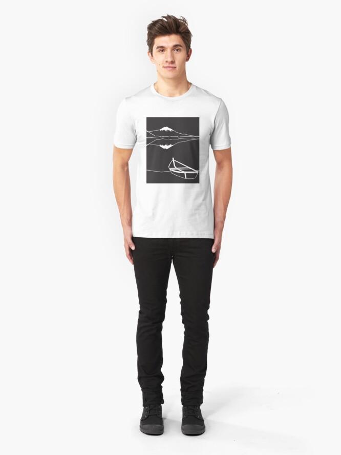 Alternate view of Mount Fuji night Slim Fit T-Shirt
