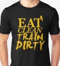 Eat Clean. Train Dirty - Yellow Unisex T-Shirt