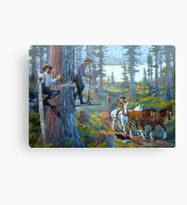 Scene Of The Oregonian Past ~ Part Two Canvas Print
