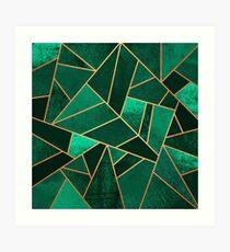 Smaragd und Kupfer Kunstdruck
