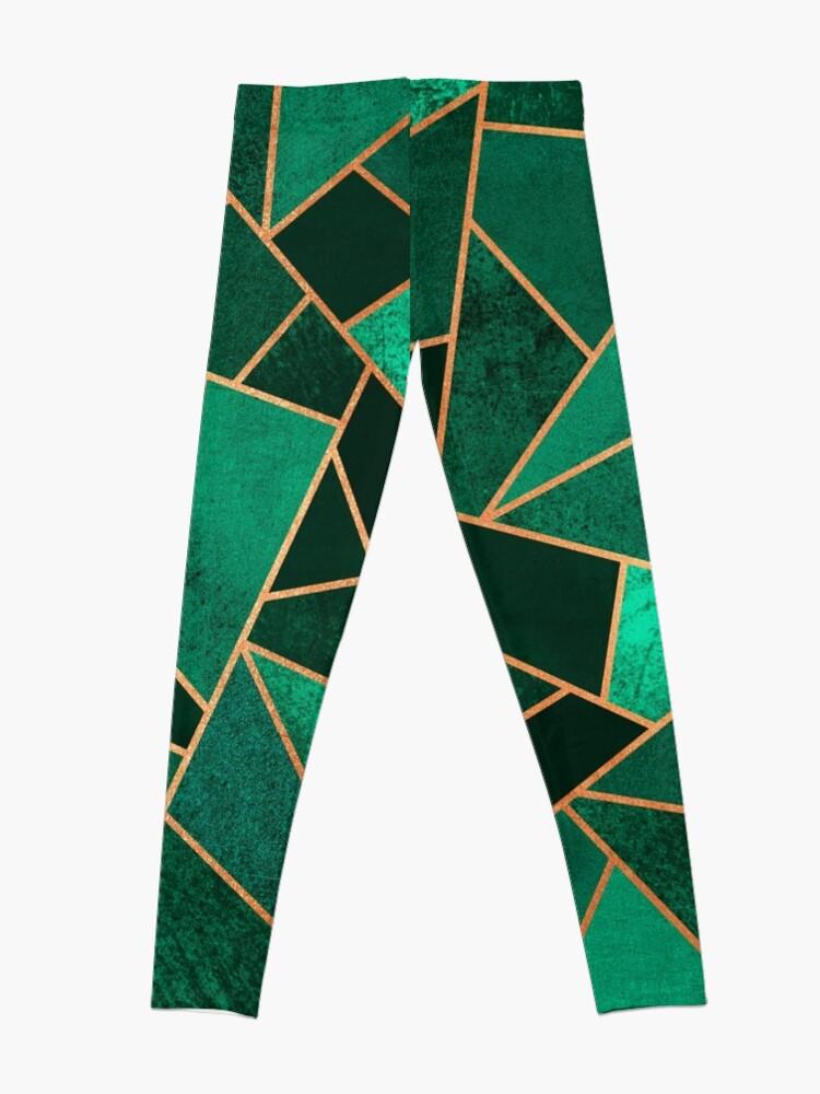 Alternative Ansicht von Smaragd und Kupfer Leggings