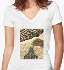Escaping Arrakis  Women's Fitted V-Neck T-Shirt