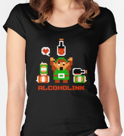 Alcoholink Women's Fitted Scoop T-Shirt