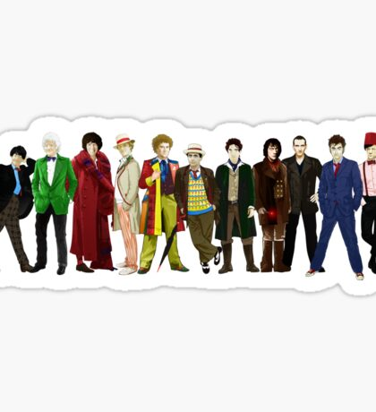 Doctor Who - 13 Doctors lineup Sticker