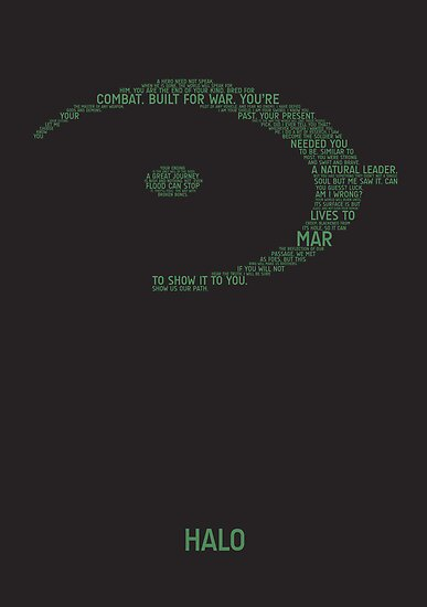 Halo Typography [Green] by TitanVex