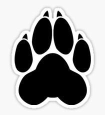 Wolf PawPrint Sticker
