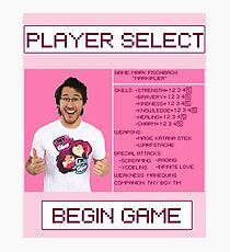 Markiplier Player Select Screen Photographic Print